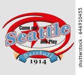 seattle baseball label | Shutterstock .eps vector #646910455