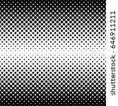 monochrome halftone abstract... | Shutterstock .eps vector #646911211