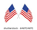 united states flag independence ... | Shutterstock .eps vector #646914691