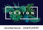 bright tropical background with ... | Shutterstock .eps vector #646914949