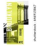 photo print brooklyn bridge...   Shutterstock . vector #646915867