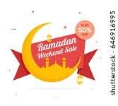 holy month  ramadan weekend...   Shutterstock .eps vector #646916995
