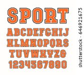 serif font in sport style with... | Shutterstock .eps vector #646921675