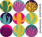 Cute Cactus. Big Polka Dot....