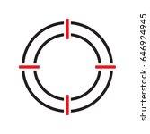 shooting target vector icon... | Shutterstock .eps vector #646924945