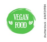 vegan food. stamp. sticker | Shutterstock .eps vector #646924984