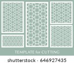 decorative panels set for laser ... | Shutterstock .eps vector #646927435