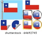 flag set chile | Shutterstock .eps vector #64692745