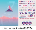 large collection of trendy... | Shutterstock .eps vector #646932574