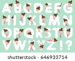 set of various poses of... | Shutterstock .eps vector #646933714