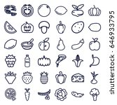 vegetarian icons set. set of 36 ... | Shutterstock .eps vector #646933795