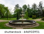 beautiful fountain in the park. | Shutterstock . vector #646933951