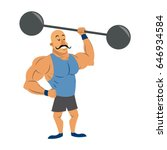 circus strong man mustache... | Shutterstock .eps vector #646934584