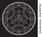 esoteric typography  tee shirt...   Shutterstock .eps vector #646934764