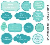 happy father's day  set retro... | Shutterstock .eps vector #646934845