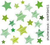 vector background with green... | Shutterstock .eps vector #646936411