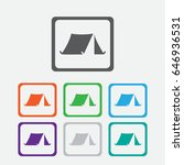 tourist tent. single icon.... | Shutterstock .eps vector #646936531