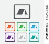 tourist tent. single icon.... | Shutterstock .eps vector #646936531
