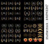 best award vector gold award... | Shutterstock .eps vector #646943347