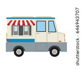 food truck icon image  | Shutterstock .eps vector #646943707