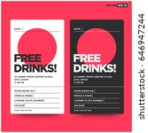 free drinks ticket coupon with... | Shutterstock .eps vector #646947244