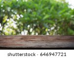 image of wood table in front of ... | Shutterstock . vector #646947721