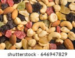 dried nuts and fruits... | Shutterstock . vector #646947829