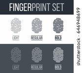 set of fingerprints for...   Shutterstock .eps vector #646948699