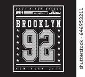 brooklyn athletic sport... | Shutterstock .eps vector #646953211