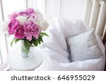 home decoration  fresh pink... | Shutterstock . vector #646955029