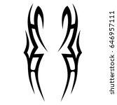 tribal tattoo art designs.... | Shutterstock .eps vector #646957111