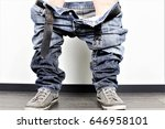 an image of a man with down... | Shutterstock . vector #646958101