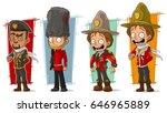 cartoon cool soldier and... | Shutterstock .eps vector #646965889