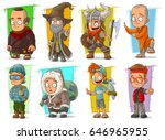 cartoon cool funny different... | Shutterstock .eps vector #646965955