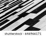 black and white sidewalk pattern | Shutterstock . vector #646966171