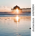 Huntington Beach Pier Sunburst...
