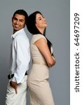 happy young ethnic couple... | Shutterstock . vector #64697209