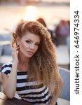 beautiful woman. outdoor... | Shutterstock . vector #646974334