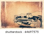 Vintage Background With A Car