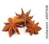 star anise in front of white... | Shutterstock . vector #64697638