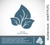 vector icon leaf    Shutterstock .eps vector #646979191