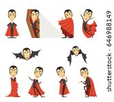 count dracula wearing red cape. ... | Shutterstock .eps vector #646988149