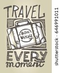 hand drawn doodle travel... | Shutterstock .eps vector #646991011