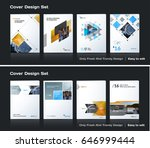 abstract vector business... | Shutterstock .eps vector #646999444