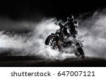 high power motorcycle chopper... | Shutterstock . vector #647007121