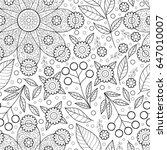cute flower seamless pattern.... | Shutterstock . vector #647010007