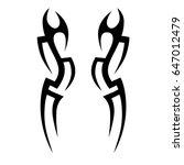 tribal tattoo art designs.... | Shutterstock .eps vector #647012479