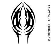 tattoo tribal vector design.... | Shutterstock .eps vector #647012491