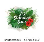 it's summer time wallpaper with ... | Shutterstock .eps vector #647015119