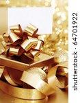golden christmas background | Shutterstock . vector #64701922